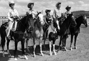 Picture of people on horses
