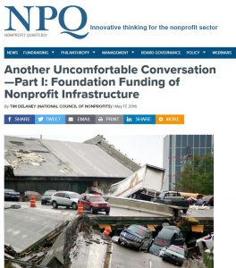 Web site snippet from Nonprofit Quarterly article